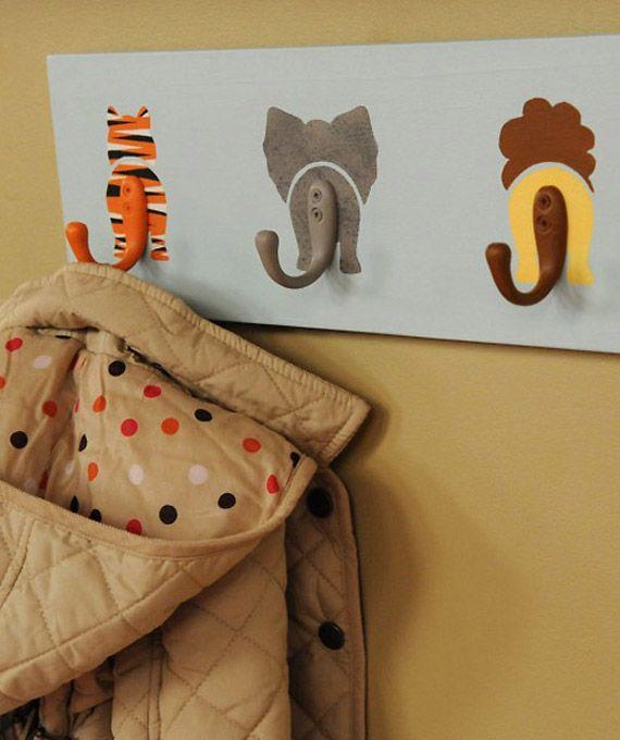 Cute DIY Animal wall hook idea