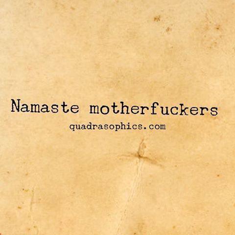 Und auf zum #Yoga. #Quadrasophics :-) #namaste