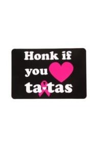 Save The Tatas – 'Honk if You Heart Tatas' Magnet