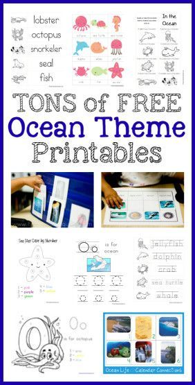 Tons of FREE Ocean Theme Printables!