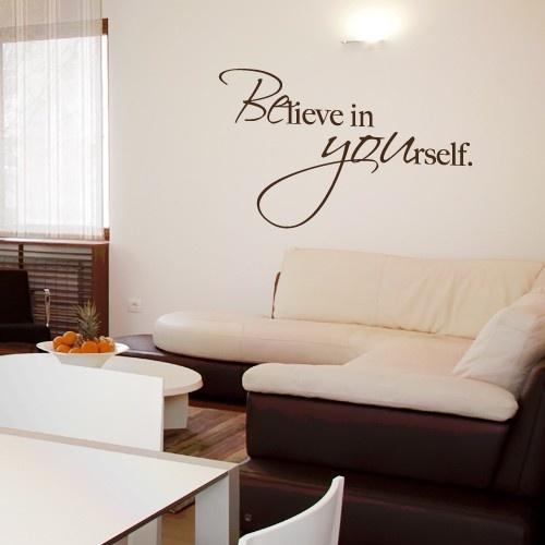 believe in yourself images | Du bist hier: Startseite » Wandtattoo Spruch - Believe in yourself