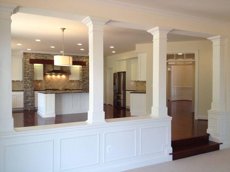 fascinating half idea wall kitchen design | Fascinating Half Wall Room Divider For Interior Design ...