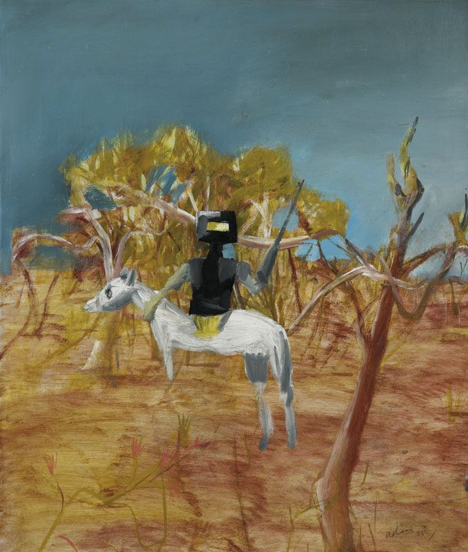 Sydney Nolan: Kelly in Bush 1955 from the Ned Kelly series