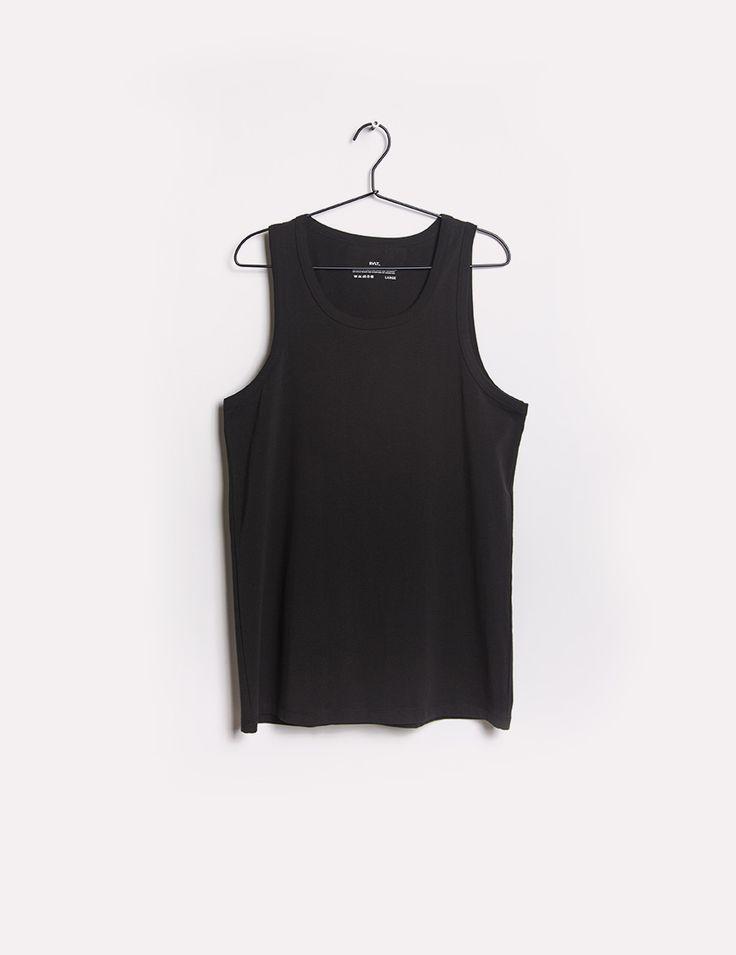 RVLT - men's fashion. Tank top, 95% organic cotton, 5% elastan.