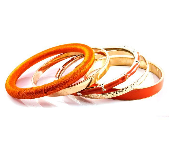 Bizsu Karkötők Nardille narancssárga arany