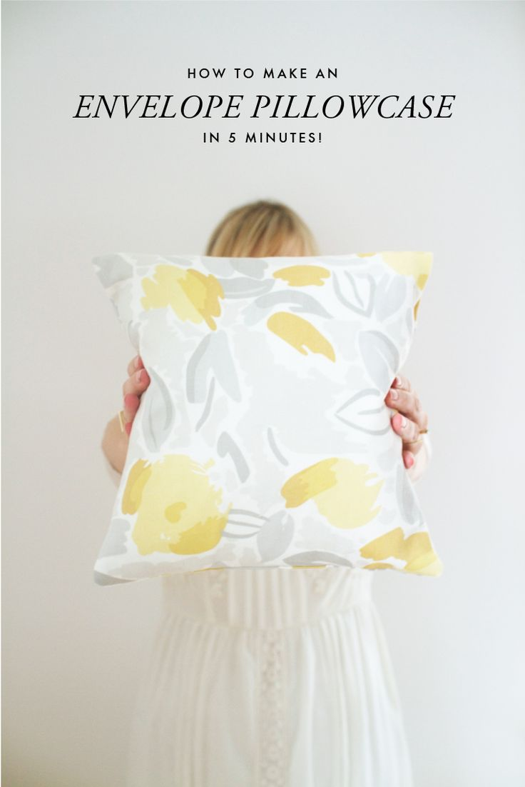 How to Make an Envelope Pillowcase in 5 Minutes by The House That Lars Built on the Laura Ashley blog