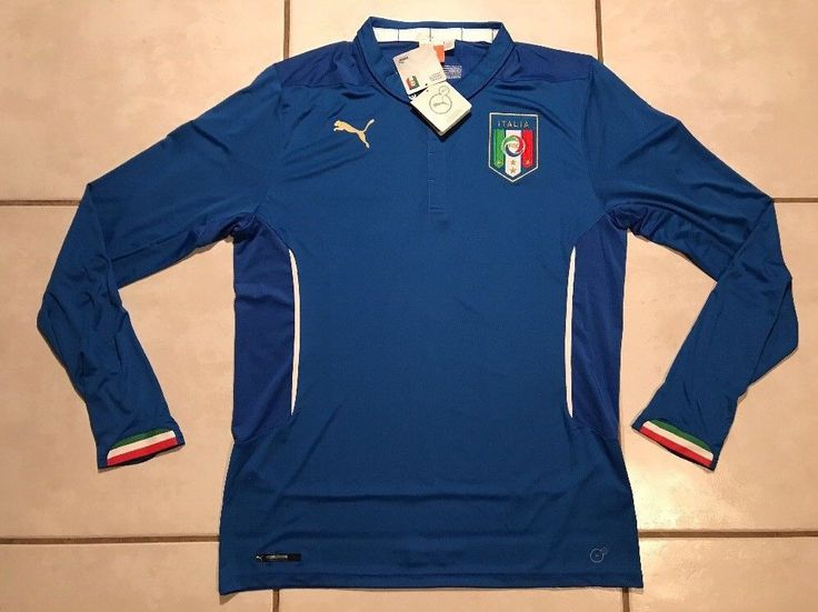 NWT PUMA Italy National Team 2014 Long Sleeve Home Soccer Jersey Men's Small  | eBay