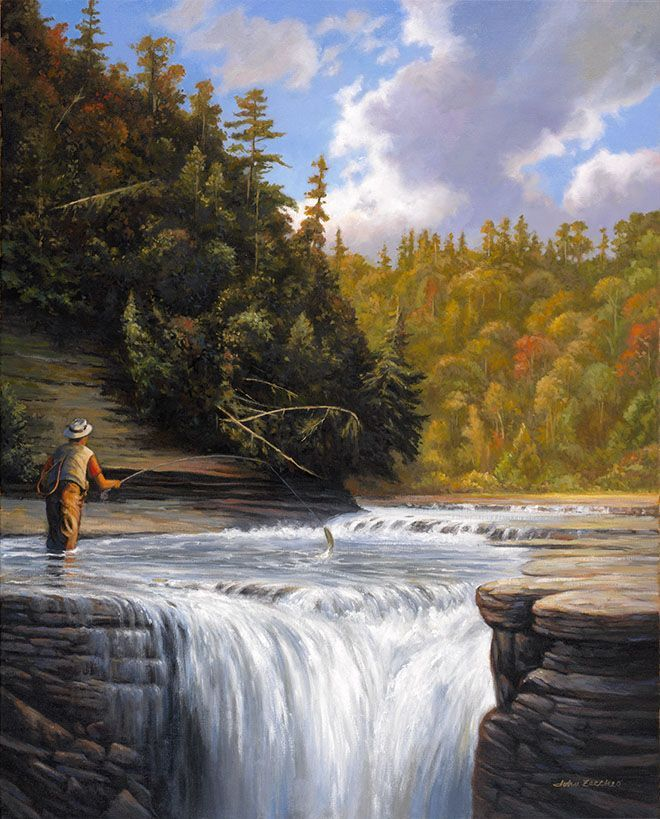 241 best images about randy van beek on pinterest for Fly fishing art
