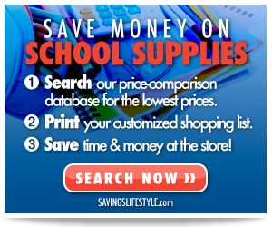 Search this price comparison database to find the lowest prices for Back to School supplies shopping.