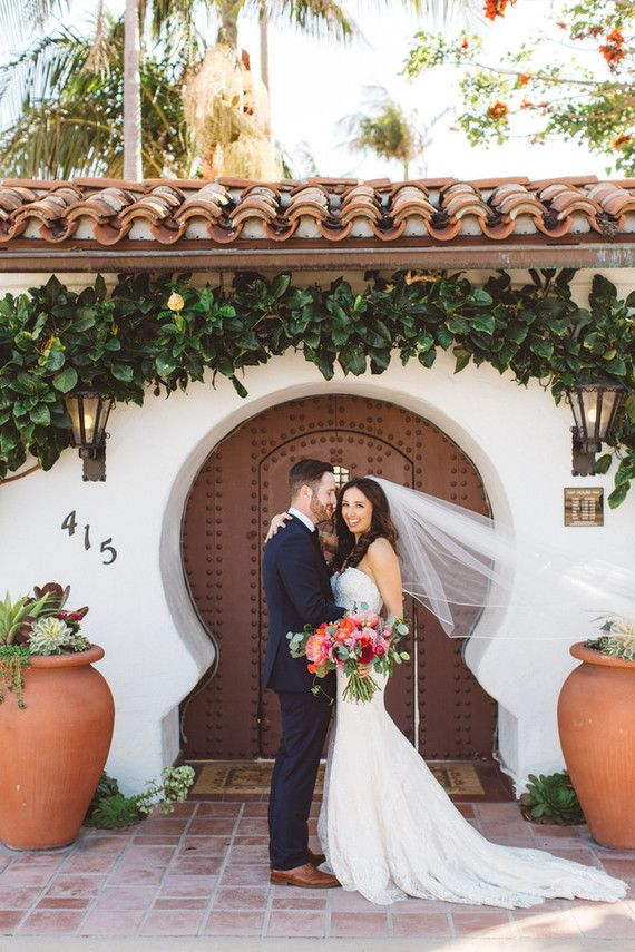 Spanish style wedding at Casa Romantica | 100 Layer Cake