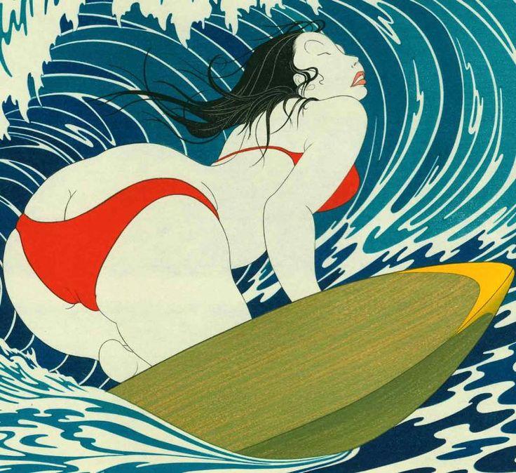 contemporary japanese woodblock prints | Authentic contemporary Japanese woodblock print by Yoshio Okada