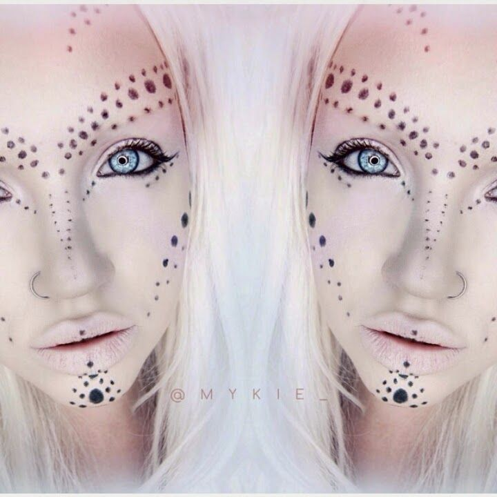 alien makeup, the black dots on the look I am also using on my character I have…