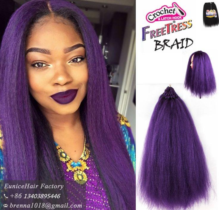 "FreeTress Synthetic Hair Braids 3X Pre-loop Yaky 18""Crochet Braid Loop Dominican BlowOut Straight kinky crochet braid 3pcs/lot"