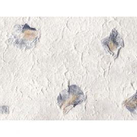Prachtig moerbei papier ingelegd met irisbloemen.