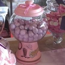 Cow Girl GumBall Machine with Purple Gumballs... Hand Made by Me...