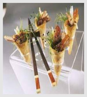 a selection of canaps appetizer philip small kosher caterer london aperitivo moderno catering http