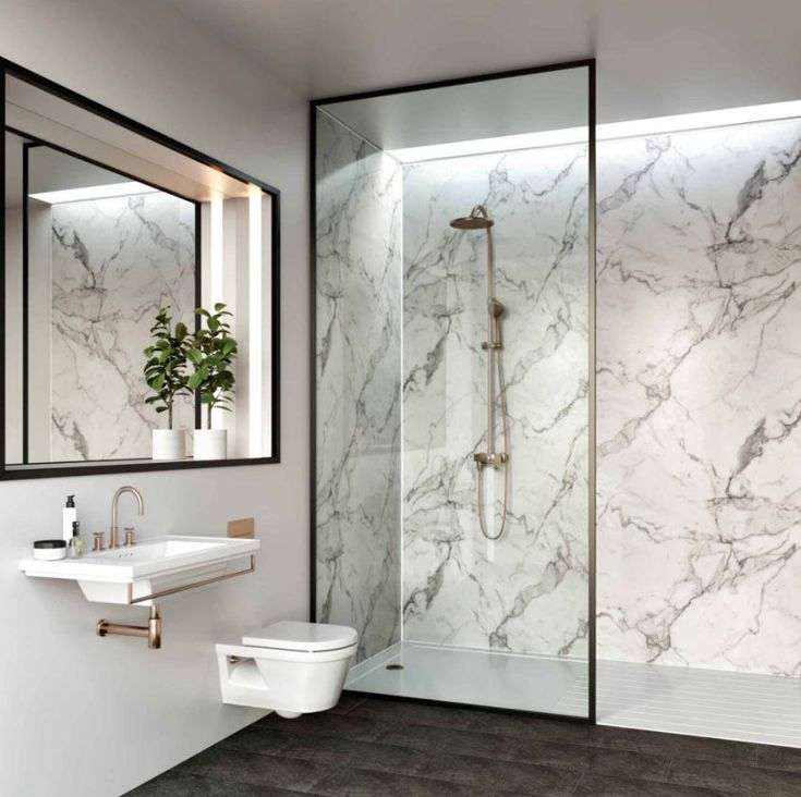 choose marble effect wall panels to create an elegant look