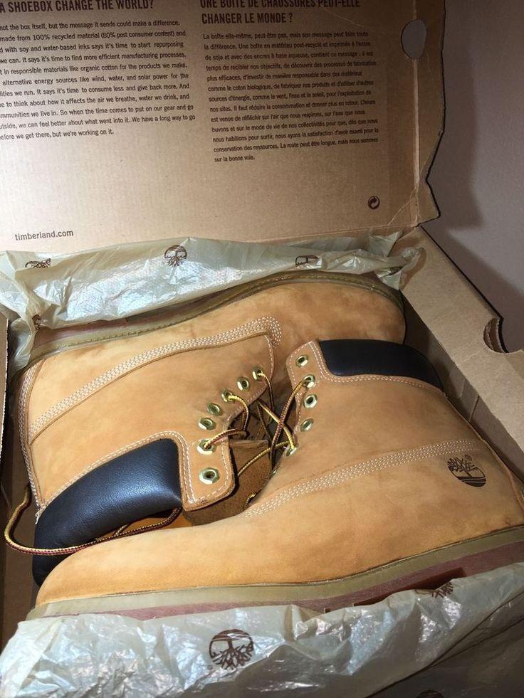Size 12 Timberland Men's Boot Wheat Nubuck Timberland work boot #Timberland #SnowWinter