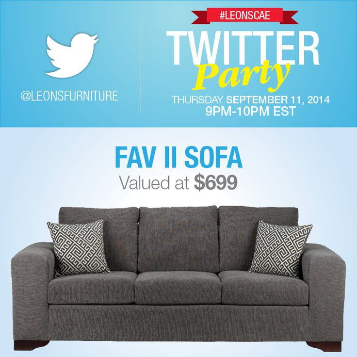 Twitter Party Over $3000 in prizing (Fav II Sofa)