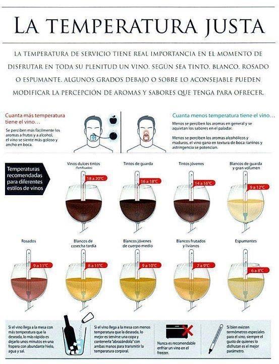 La temperatura del vino puede modificar nuestra percepción de los aromas y sabores. Vía @Dominio de Tares
