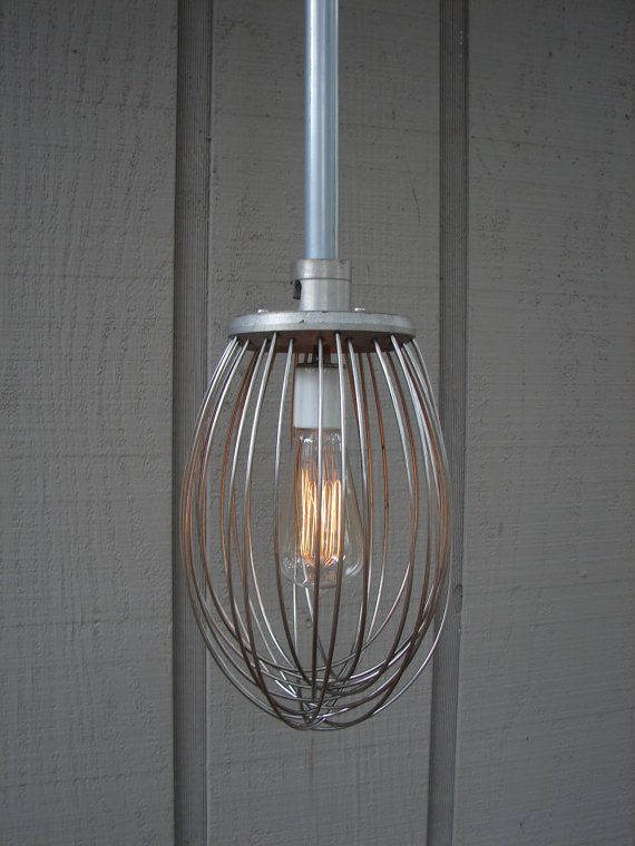 Upcycled Industrial Whisk Pendant by BenclifDesigns on Etsy, $215.00