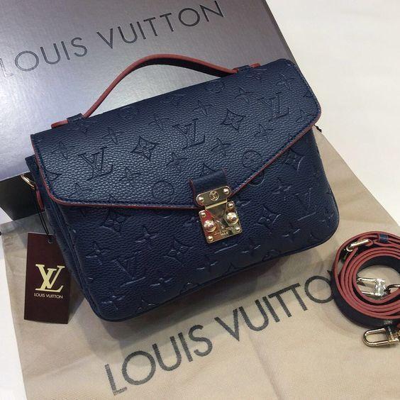 Louis Vuitton Navy Handbag