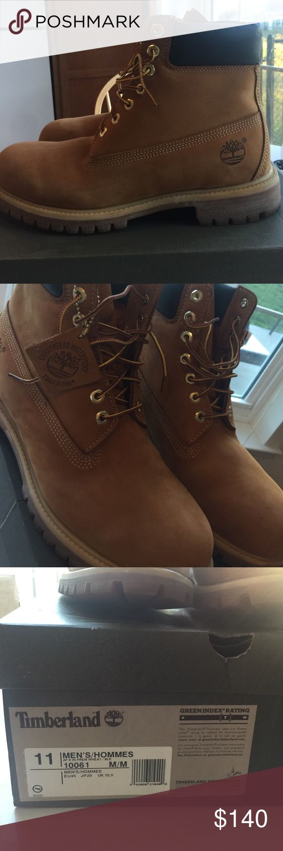 Timberland MENS boots 6 in premium size 11 MENS SIZE 11 Timberland 6 in premium boots only worn ONCE! Like new Timberland Shoes Winter & Rain Boots