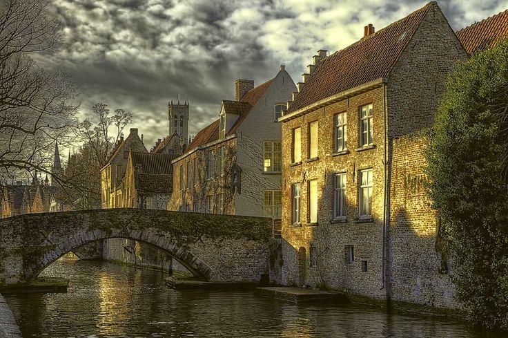 Bridge Over The Canal / Belgium
