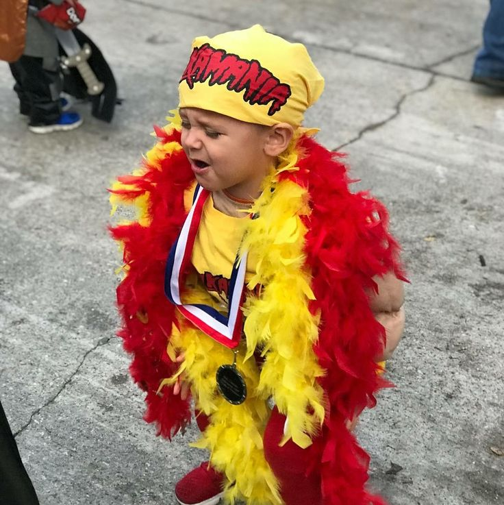 Toddler boy Halloween costume. Hulk hogan