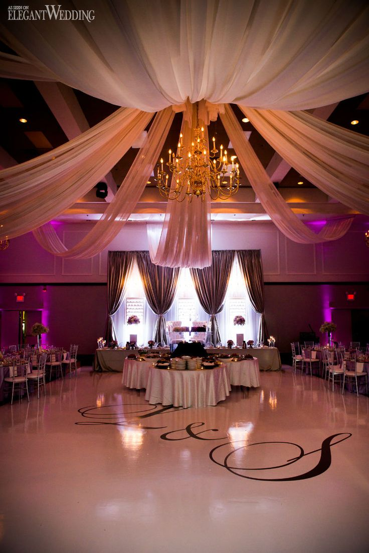 Glamorous Ballroom Wedding in Ontario   ceiling deco ...