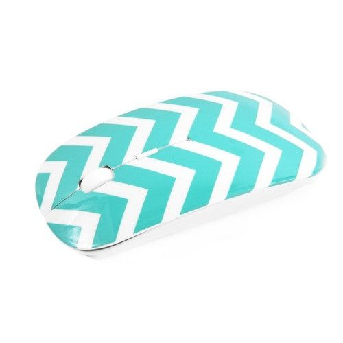 Chevron Series Turquoise USB Wireless Optical Mouse for All Macbook & Laptop