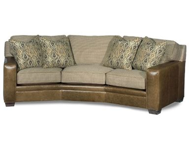 Shop For Bradington Young Stationary Angled Sofa 8 Way Tie 223 99 Leather FurnitureLiving Room