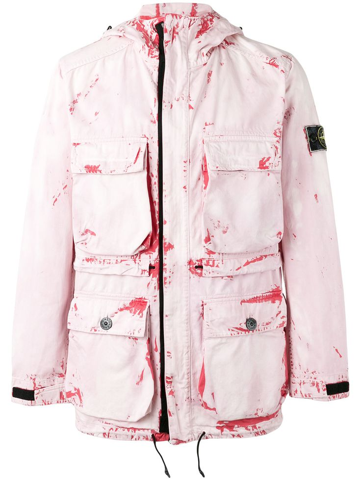 Stone Island hand corrosion print jacket