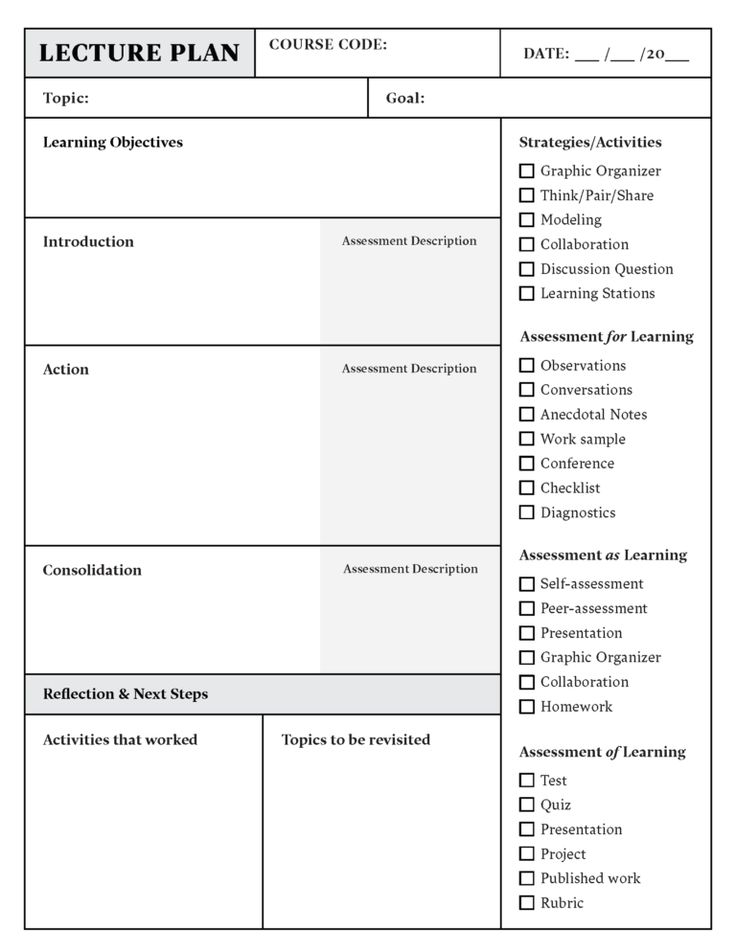 Lesson Plan Template Download In Word Or Pdf in 2020