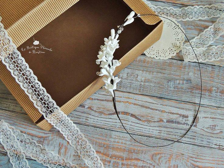 Coroncina per sposa, Corona floreale, Corona bianca, Corona originale, Accessorio per sposa, Accessorio per capelli, Coroncina, Accessori di FioridiKristine su Etsy