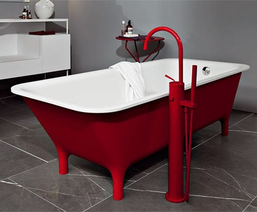 Red Freestanding Bath - Morphing by Zucchetti Kos