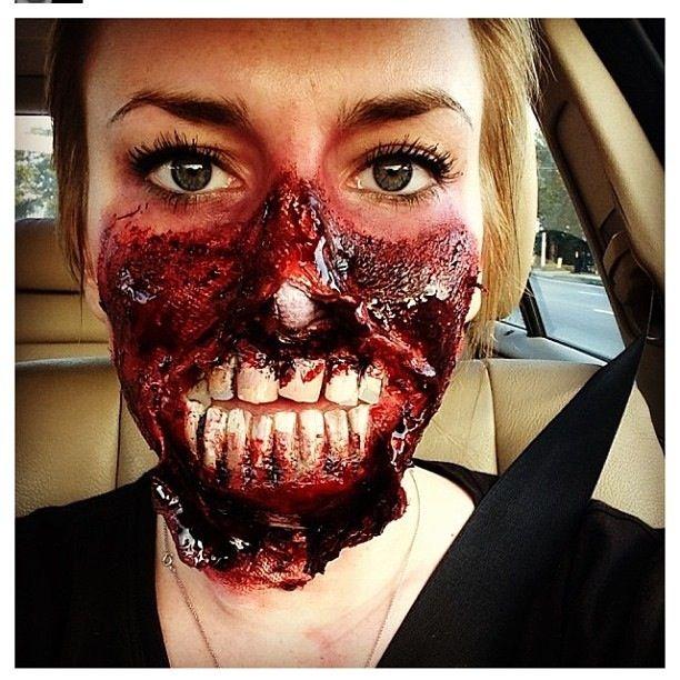 Gory Zombie Halloween Makeup