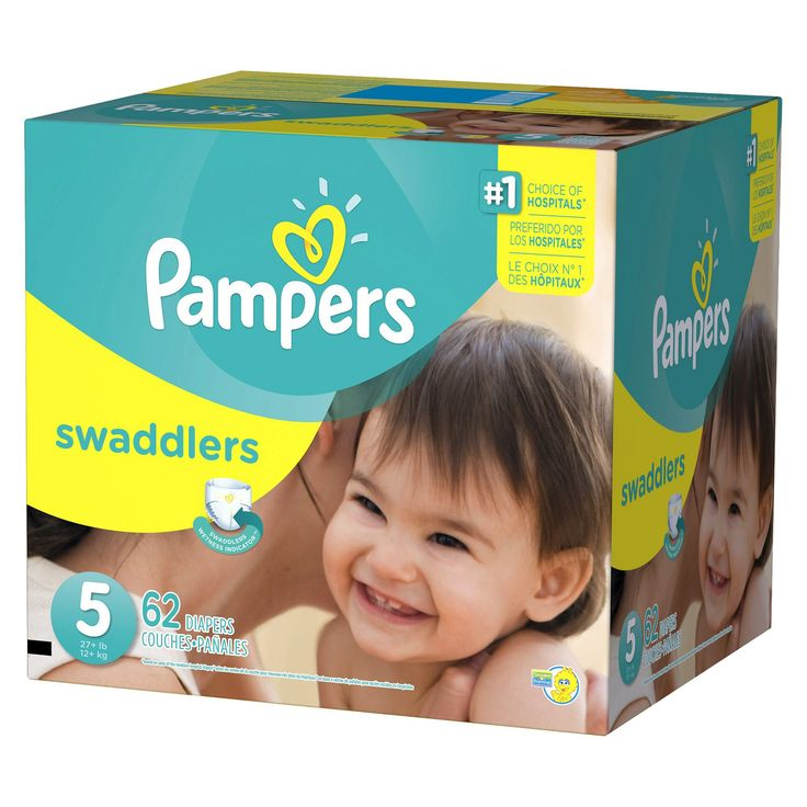 Pampers Swaddlers Diapers Super Pack Size 5 (62 ct)
