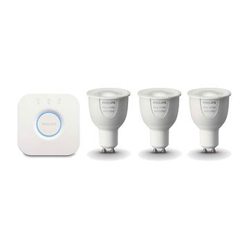 KIT 3 Becuri LED Philips HUE, GU10, White and color ambiance https://www.etbm.ro/philips-hue-connected-lighting  #led #ledphilips #philips #lighting #etbm #etbmro #philipsled #lightingfixtures #lightingdyi #design #homedecor #hue #philips hue #huebulbs #lamps #bedroom #inspiration #livingroom #wall #diy #scenes #hack #ideas