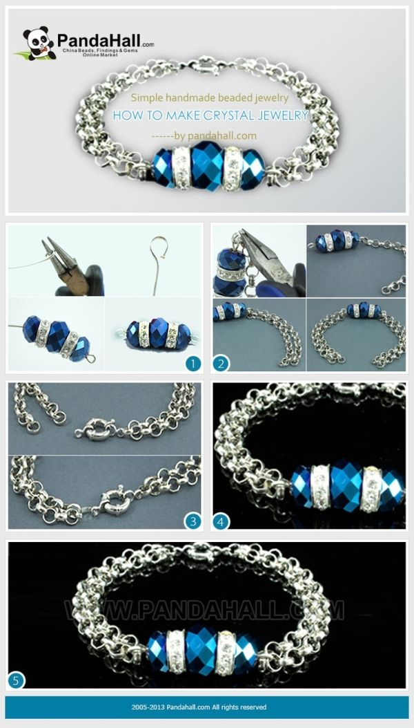 This how to make crystal jewelry tutorial includes merely two basic skills that are often applied in handmade beaded jewelry, which is exactly suitable for beginners. by ebony