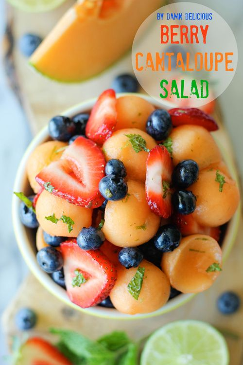 Berry Cantaloupe Salad