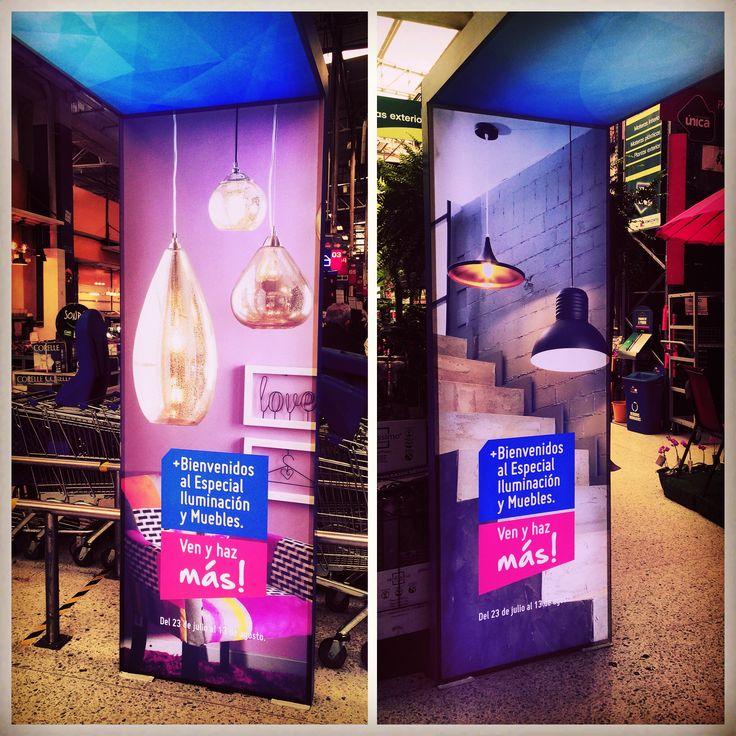 Visual Merchandising iluminación Cliente: Homecenter - Sodimac Colombia S.A. Tienda Calle 80 Bogotá