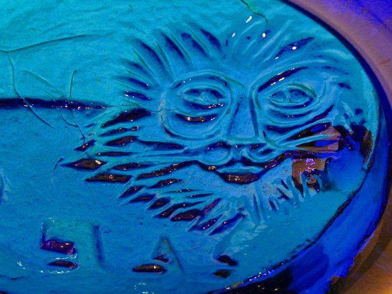 RARE Erik Hoglund Kosta Boda Cobalt Blue Art Glass Lion Extra Large Bowl Paperweight Sweden Scandinavian Modern by EdibleComplex on Etsy
