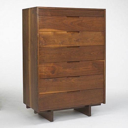 George Nakashima, Black Walnut Tall Dresser, c1970.