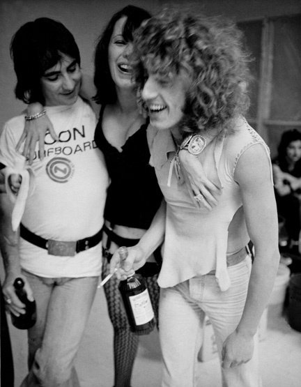 Pamela Des Barres with Keith Moon and Roger Daltrey