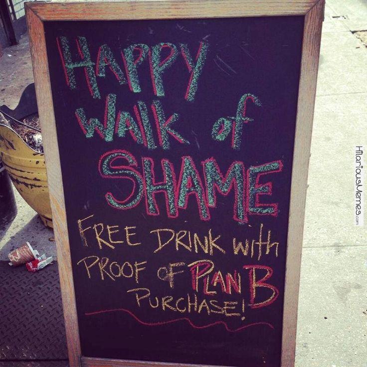 Funny meme happy walk of shame