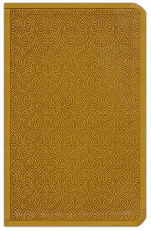 A compact size ESV Bible--soft leather-look, goldenrod color