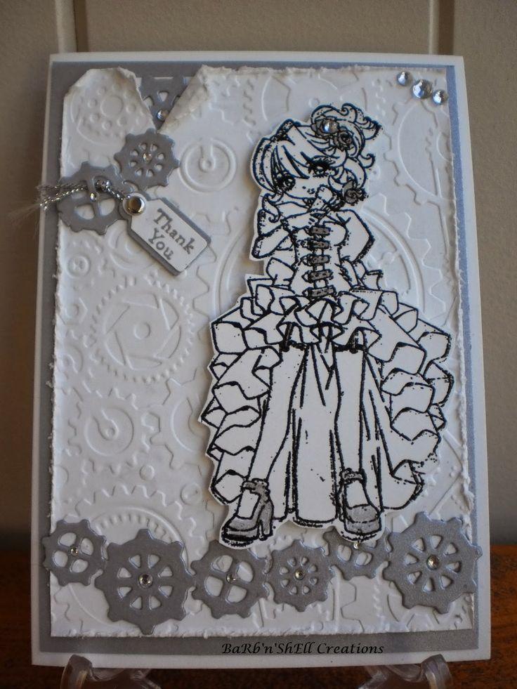 Make It Crafty - Steampunk - Elizabeth J - Bridesmaid Thank-You Card - made by Shell