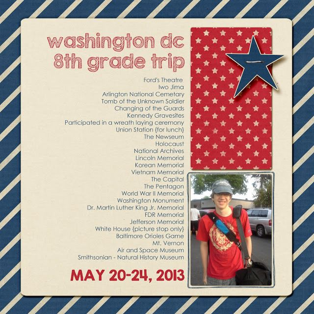 On pinterest scrapbook pages fourth of july and scrapbook layouts - 17 Best Images About Washington Dc Scrapbook On Pinterest
