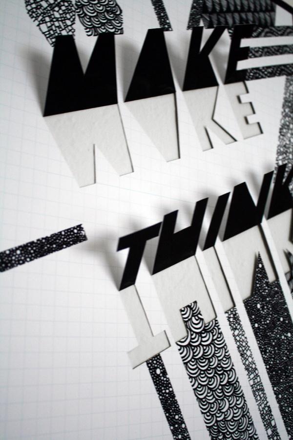 Make / Think interactive poster